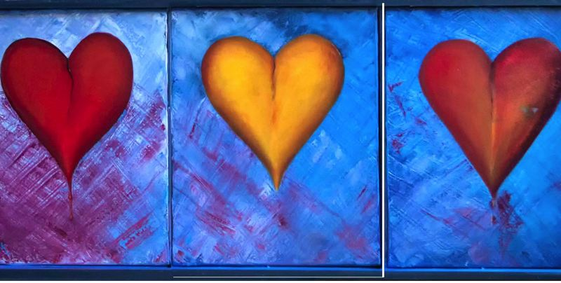 by: CONTRIBUTED - 'All Greek To Me - Eros, Agape, Philia,' by Becky Hawley, is featured in the art show/play preview that the Wyeast Artistsns Guild and Sandy Actors Theatre will present this month. See Feb. 6 listing for details.