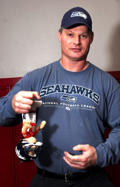 by: THE OUTLOOK: JIM CLARK - David Douglas High School teacher Dale Dorning roughed up a Peyton Manning doll this week. He recorded two official sacks as a defensive end with the Seahawks during the 1987 player strike.
