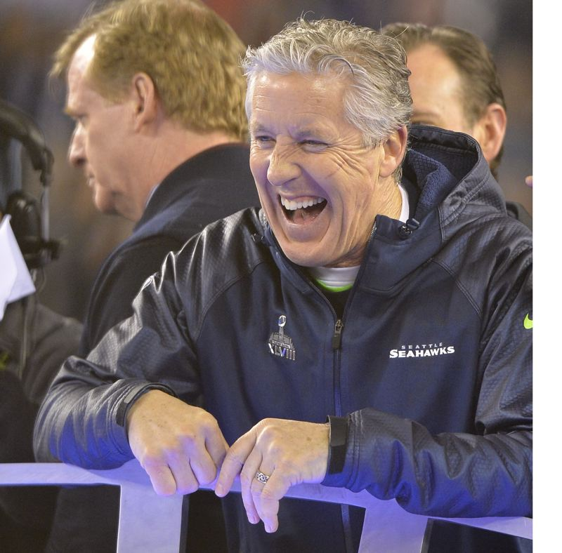Seahawks coach Pete Carroll gets the last laugh.
