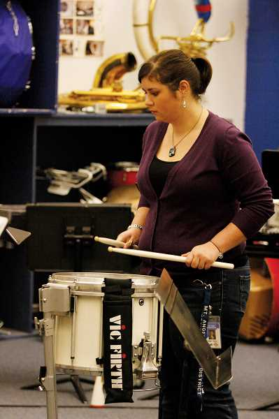 by: PHIL HAWKINS - Music teacher Kalyn Hanna began teaching at Kennedy High School in August when the school district brought the music program back to the high school.