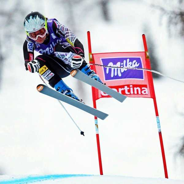 by: MITCH GUNN - Sports photographer Mitch Gunn captures Jacqueline Wiles making the Cortina, Italy, World Cup run that secured her spot on the U. S. Olympic team.