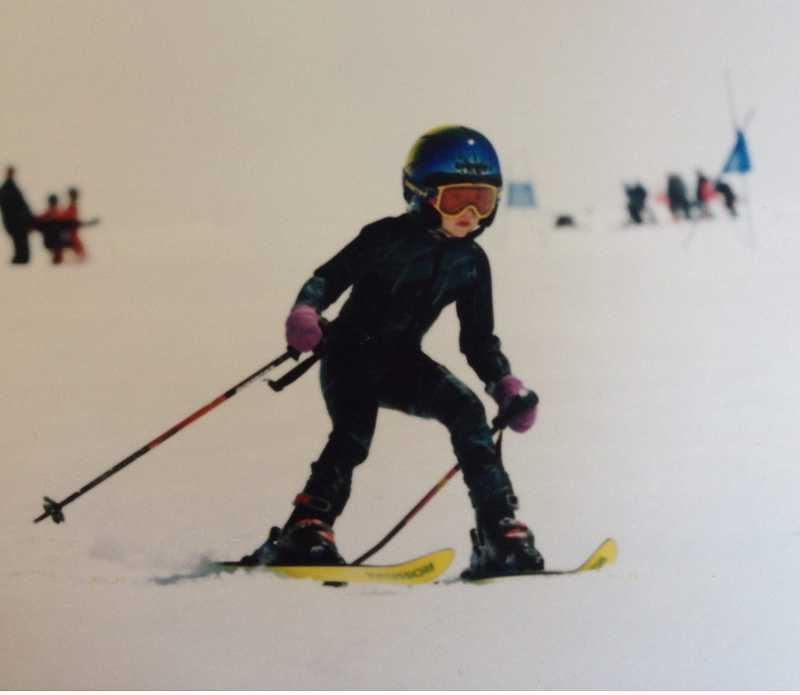 by: SUBMITTED PHOTO -  Jacqueline Wiles learning the slopes at age 4.