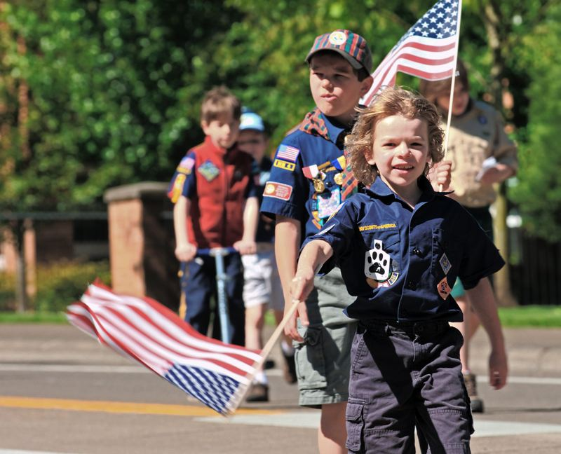 by: SPOKESMAN FILE PHOTO: JOSH KULLA - Everyone from local Boy Scouts to bagpipe bands used to take part in the Wilsonville Festival of Arts community parade that ended in 2011.