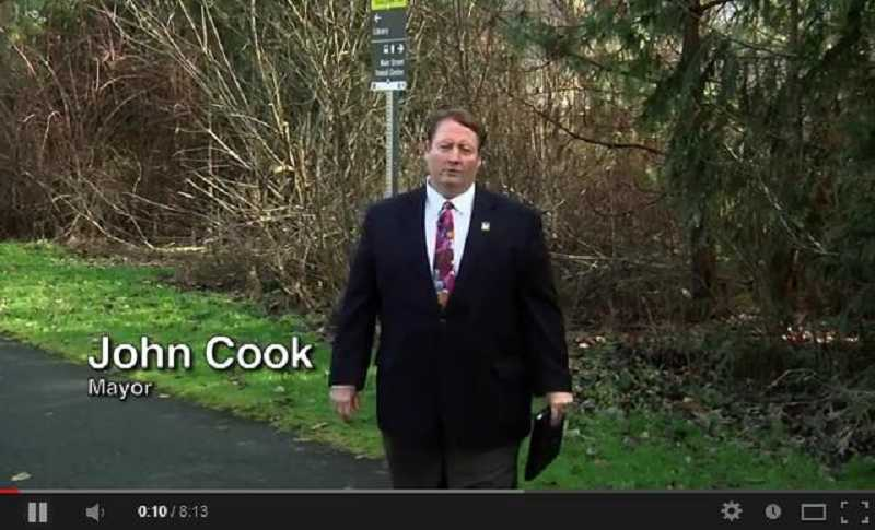 (Image is Clickable Link) Tigard Mayor John Cook has posted his first State of the City video online. Cook said he chose to present a video rather than a traditional State of the City speech in order to get the message to more constituents.