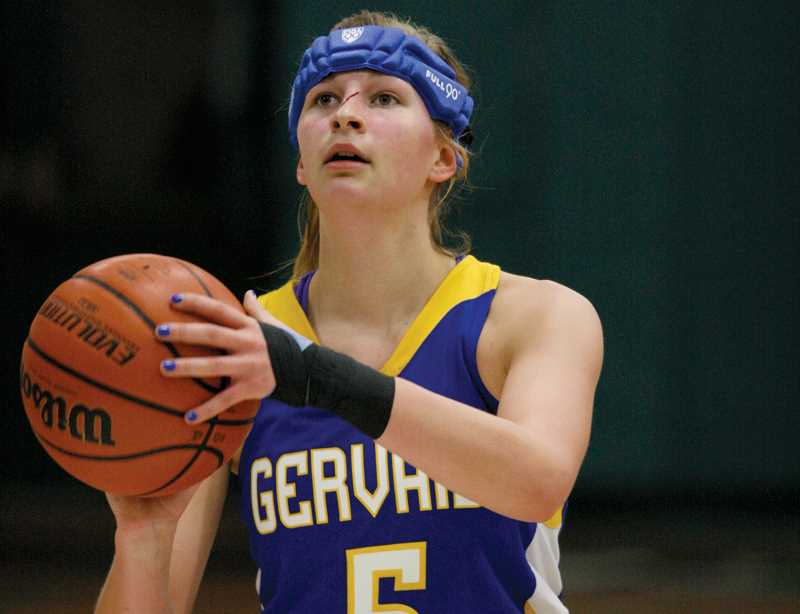 by: PHIL HAWKINS - Gervais junior Cassidy Rush led all scorers with 10 points in the Lady Cats' 33-29 victory over Sheridan.