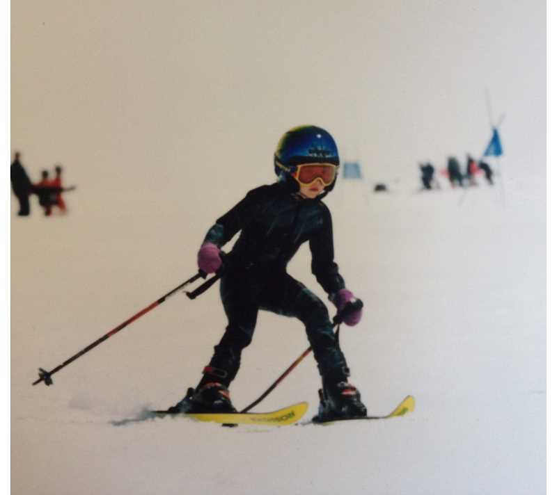by: SUBMITTED PHOTO - Jacqueline Wiles got her start skiing when she was just 2 years old, although she was 4 when this photo was taken.