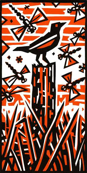by: SUBMITTED PHOTOS - Original linocuts by Dennis Cunningham are on exhibit at 510 Museum & ARTspace through March 21.