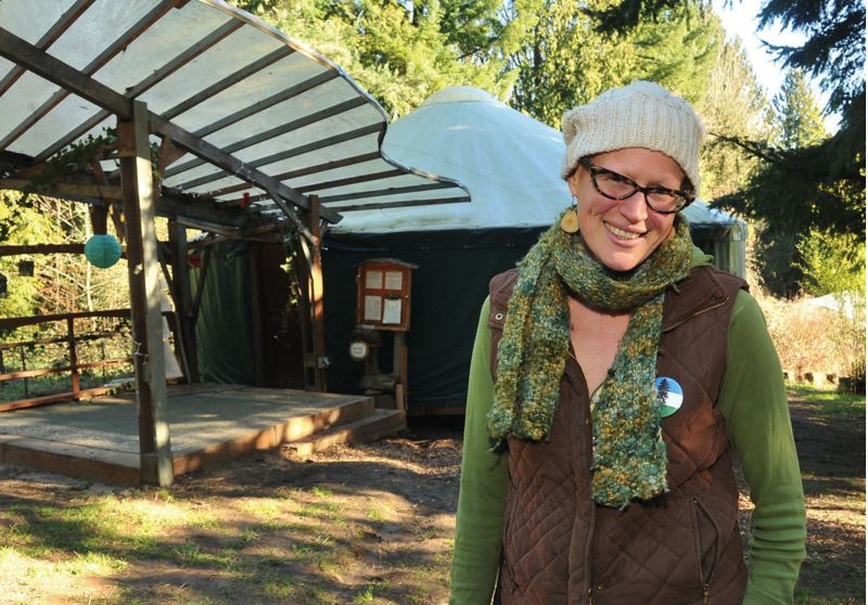 by: PAMPLIN MEDIA GROUP: VERN UYETAKE - Brenna Bell has played a key role in making Tryon Life  a reality, including a recent campaign to add a yurt.