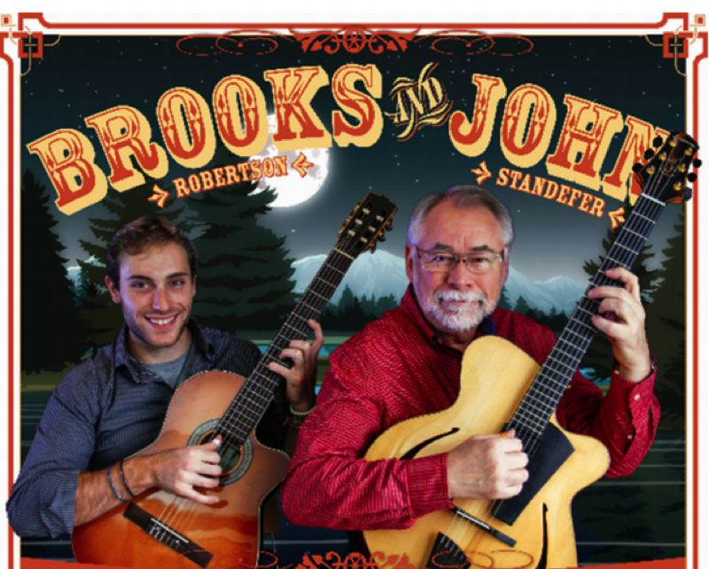 by: COURTESY PHOTO - Brooks Robertson and John Standefer, finger-style guitarists, are performing a special Valentines concert in Hillsboro.