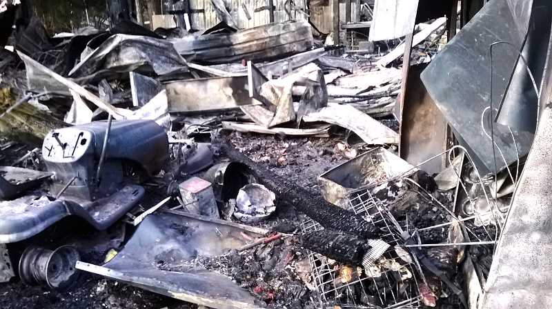 by: CONTRIBUTED - The Baker family lost several animals and a great deal of supplies in the fire.