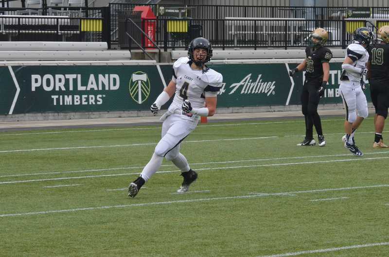 by: JEFF GOODMAN / PAMPLIN MEDIA GROUP - Canby senior A.J. Schlatter, who earned first-team all-league recognition on both sides of the ball this past season, will continue his football career at Portland State.