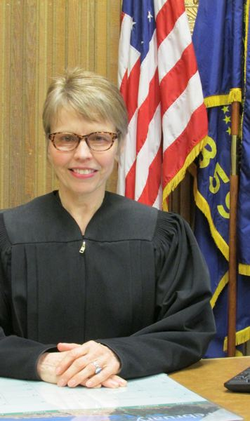 by: SPOTLIGHT PHOTO: MARK MILLER - Judge Jean Marie Martwick, seeking retention to her seat on the Columbia County Circuit Court.