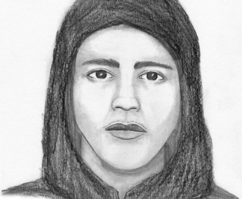 by: CLACKAMAS COUNTY SHERIFFS OFFICE - A sketch of a man who reportedly attacked a woman on a bike path near Happy Valley, Feb. 13.
