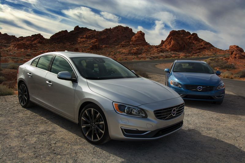 by: JOHN M. VINCENT - The design of the Volvo S60 (left) was refreshed for 2014. It's joined by the V60 wagon (right) for 2015.