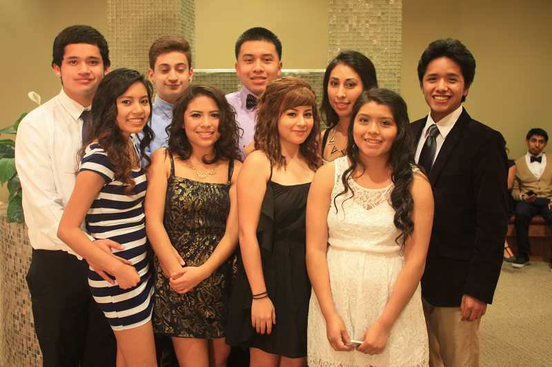 by: WOODBURN HIGH SCHOOL - Woodburn's Academy of International Studies leadership group helped bring back the school's winter formal dance, which was celebrated at Woodburn Health Center Feb. 1.
