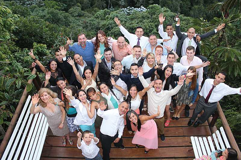 by: SUBMITTED PHOTO - Members of the groom's North American family mingle with the bride's Colombian family after the wedding.