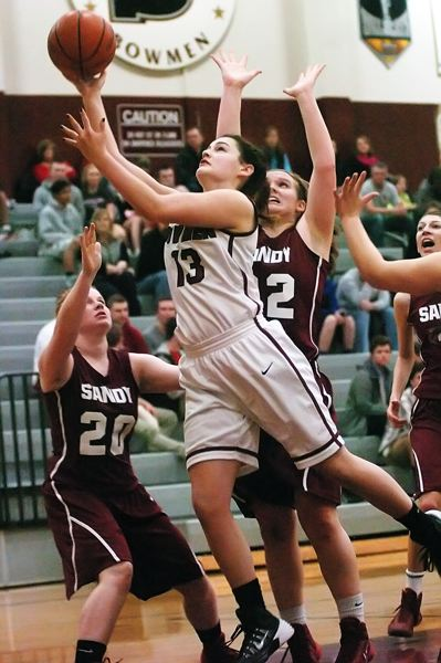 by: DAN BROOD - STRONG INSIDE -- Sherwood junior post Mallory Shields had eight points and nine rebounds in the win over Sandy.