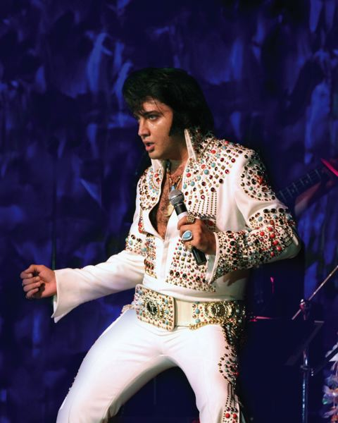 by: COURTESY OF JAMIES ROCK & ROLL LEGENDS - Justin Shandor, Worlds Ultimate Elvis, will help Franklin High raise money Feb. 22.