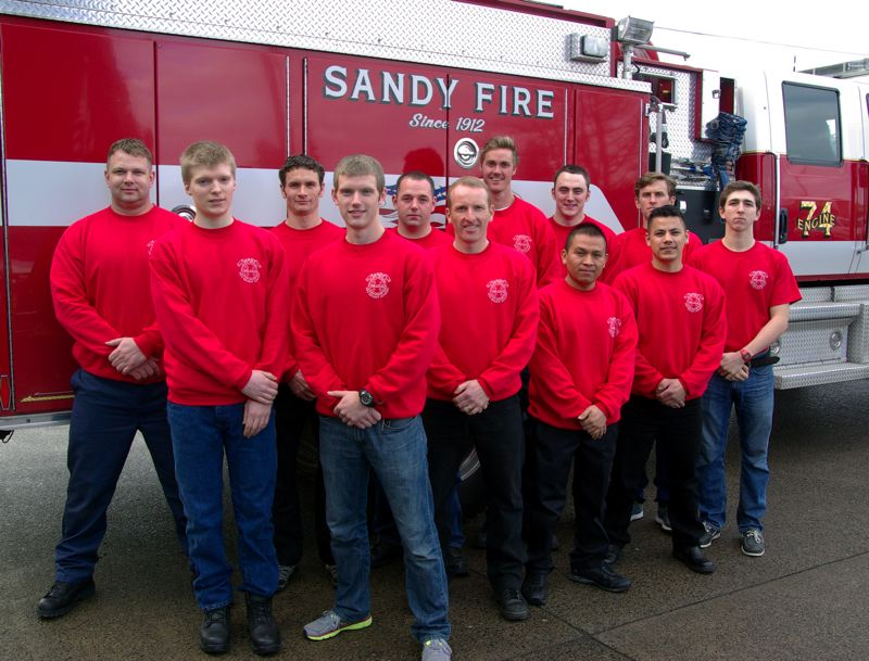 by: POST PHOTO: KYLIE WRAY - Sandy Fire 2014 recruits Bauer, Brener, Bieker, Johnson, Rutledge, Hart, Pearson, Cullen, Wilson, Vasquez, Escobedo and Scobert.