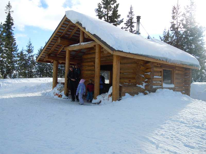 by: SCOTT STAATS SPECIAL TO THE CENTRAL OREGONIAN - This warming shelter is located about a mile from the trailhead at the Meissner Sno-Park trails.