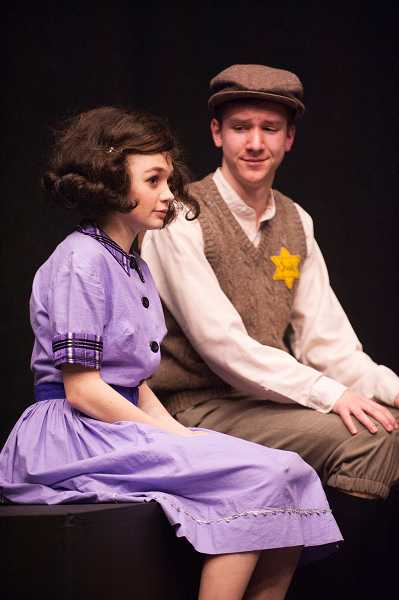 by: SPOKESMAN PHOTO: JOSH KULLA - Hayden Wilde and Aaron Gilbert play Anne Frank and Peter Van Daan, two young people living in hiding during World War II.