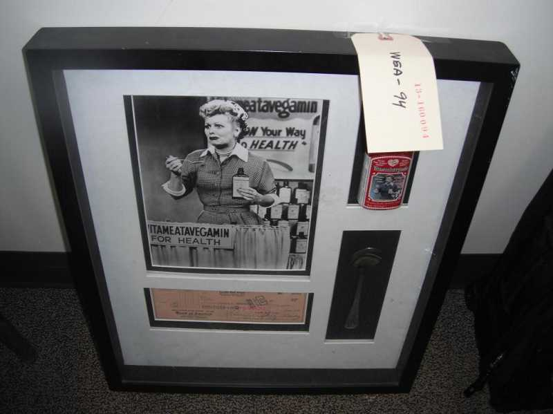 Police say this 'I Love Lucy' memorabilia was among the stolen property recovered in Washington. Authorities are attempting to return the stolen items back their owners.