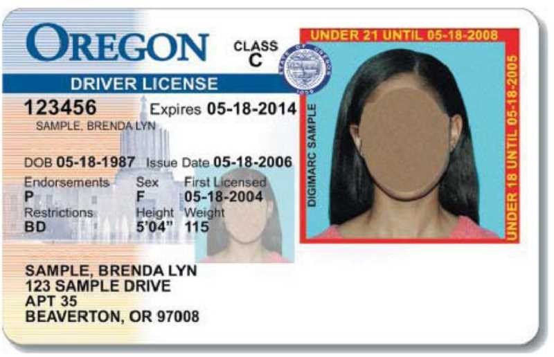 by: SUBMITTED PHOTO: OLCC - The Oregon driver's license for a minor carries a red border around the picture with the words Minor Until followed by the date of his or her 21st birthday.