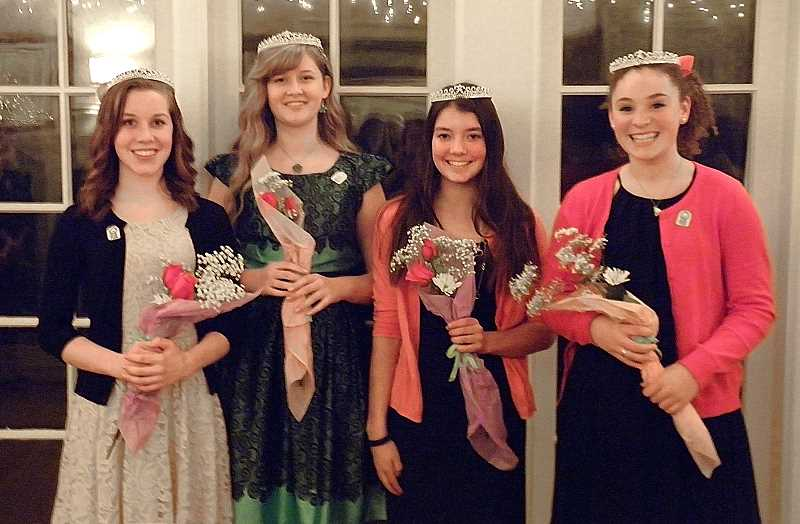 by: SUBMITTED PHOTO - From left are the 2014 Old Time Fair Court Princesses: McKenna Wright, Amber Wood, Megan Talbert and Katie Williams.