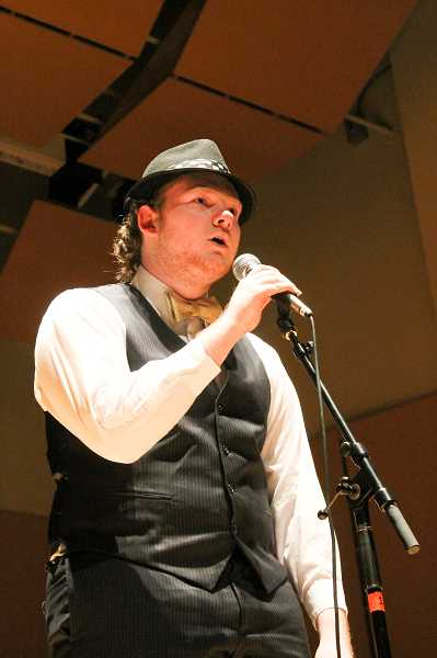 by: NEWS-TIMES PHOTO: JOHN SCHRAG - Robert Maughan spent six months learning beat boxing from YouTube and performed well enough Saturday to draw one of the night's most enthusiastic audience responses.