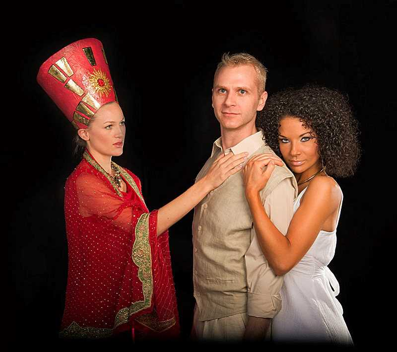 by: SUBMITTED PHOTO: PAUL S. FARDIG - From left, Joy Martin, James Langston Drake and Joann Coleman in Stumptown Stages Aida.