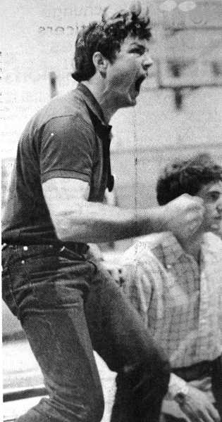 by: ARCHIVE PHOTO - Wrestling is a serious business. The caption to this 1984 photo read: 'Ranger wrestling coach Steve Woods seldom sits dispassionately on the sidelines. He normally regains his voice two days after a match.'