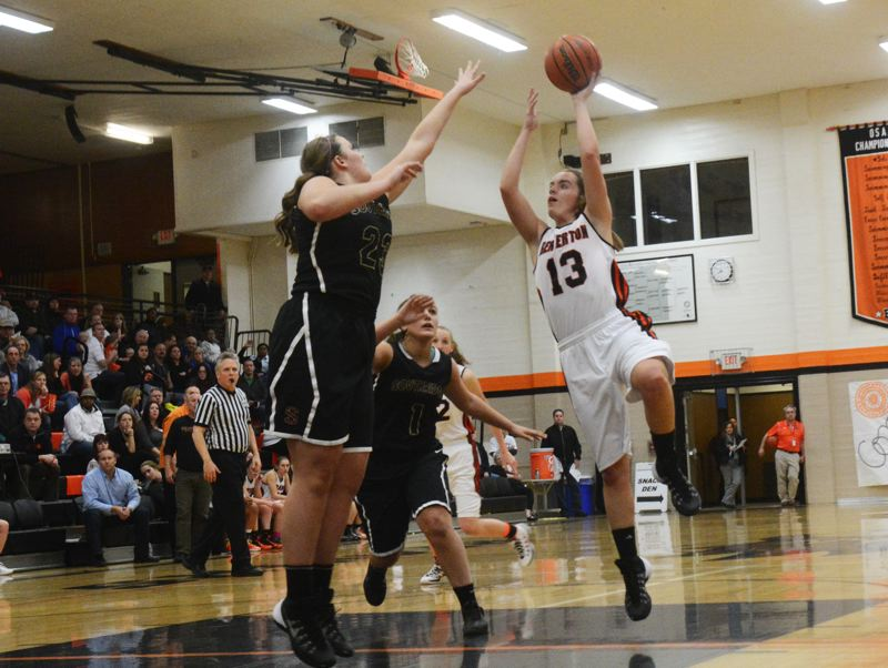 by: TIMES PHOTO: MATT SINGLEDECKER - Beaverton sophomore guard Alyssa Christiansen led the Beavers with 18 points and five assists during Beavertons 61-55 win over Southridge on Tuesday.