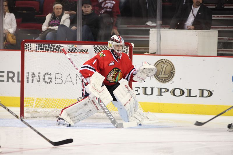 by: COURTESY OF PORTLAND WINTERHAWKS - Brendan Burke, who waited in the wings behind Mac Carruth for two years, took over this season as the Portland Winterhawks No. 1 goaltender. He posted a 31-10-2-2 record until a recent illness, but the Hawks expect him to return soon as they wrap up the Western Hockey League regular season and head to the playoffs.