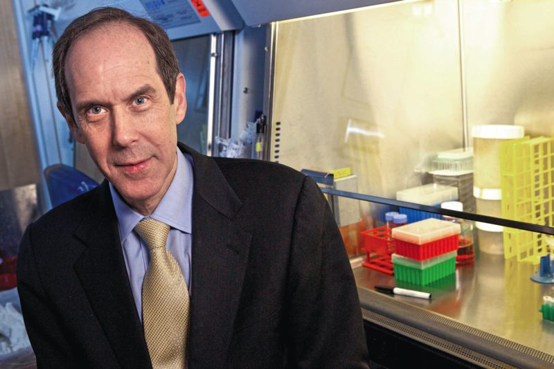 by: TRIBUNE PHOTO: JAIME VALDEZ - Brian Druker has big plans for OHSUs Knight Cancer Institute should the university meet Phil Knights challenge grant and have $1 billion to spend. Decreasing federal funding for research could play into OHSUs plan to lure top scientists to Portland by promising they can work as scientists, not fundraisers.