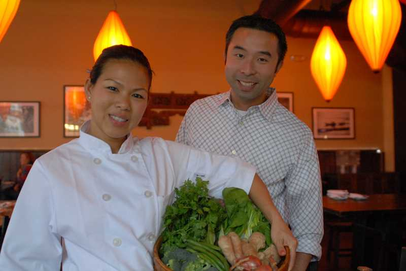 by: SUBMITTED PHOTO - Katherine and Daniel Nguyen, owners of Bambuza Vietnam Kitchen, hve signed a lease with Gramor Development for property at Kruse Village.