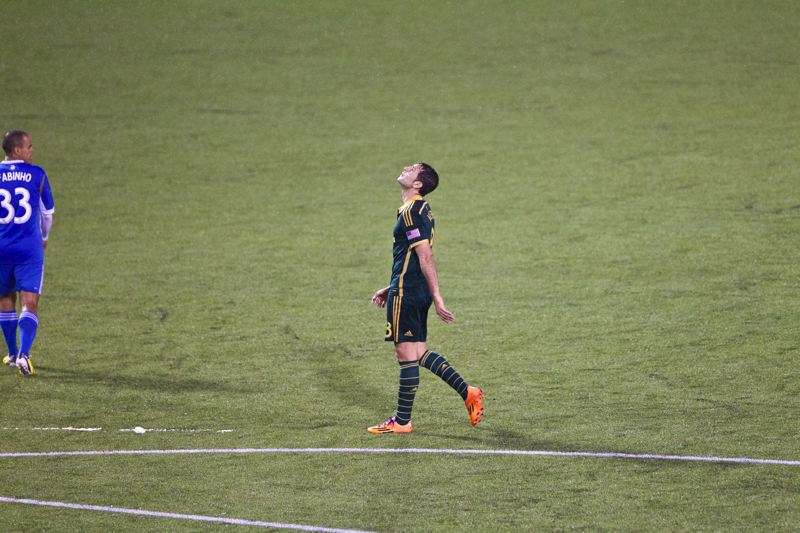 by: TRIBUNE PHOTO: JAIME VALDEZ - Timbers midfielder Diego Valeri reacts after missing a shot in the second half.