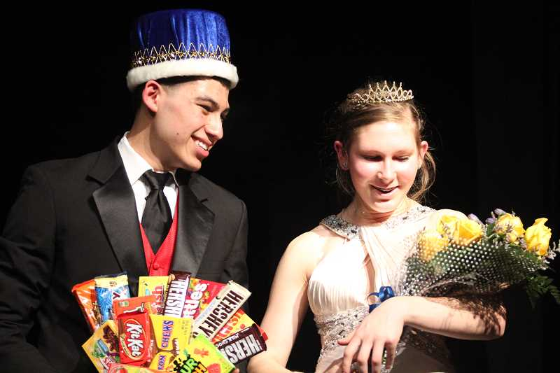 by: LINDSAY KEEFER - Lazaro Villegas and Milla Snegirev were crowned this year's Mr. and Miss Gervais.