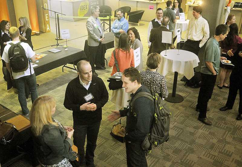 by: GARY ALLEN - Getting started - To celebrate its opening and get the ball rolling for students, the IDEA Center hosted a job-seeking seminar and networking event Friday at the Stevens Center, which houses the program.