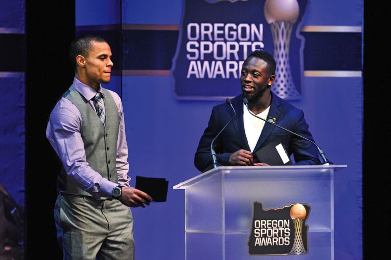 by: COURTESY OF JOHN LARIVIERE - DeAnthony Thomas, one of the presenters at Sundays Oregon Sports Awards, says he is looking forward to his transition from the Oregon Ducks to the NFL.