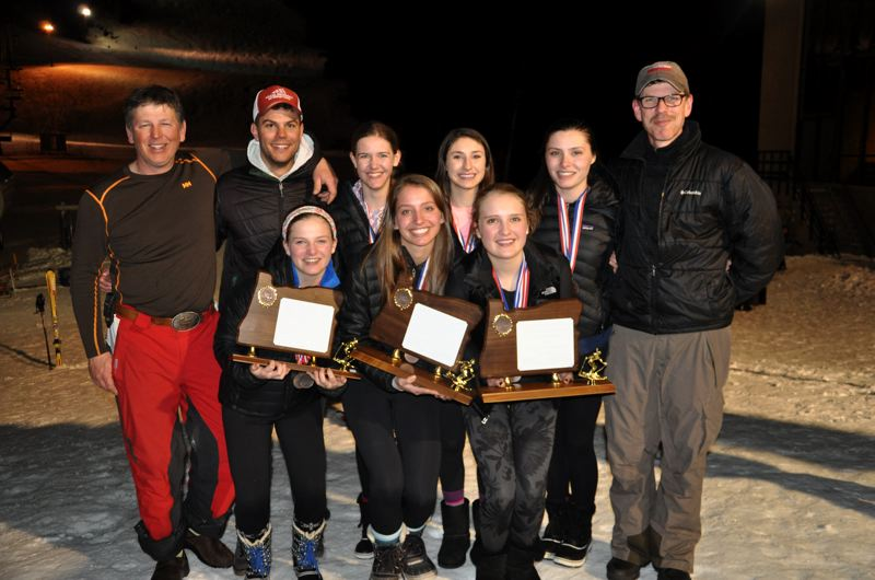 The Lake Oswego girls ski team claimed a top-three finish at the state competition for the second year in a row at Mt. Hood Meadows last week.