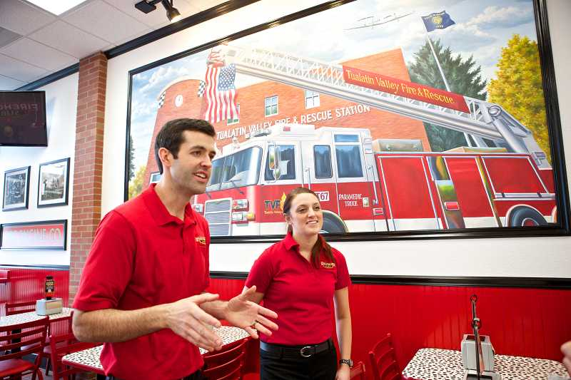 by: TIMES PHOTO: JAIME VALDEZ - Firehouse Subs owners Brandon and Stephanie Ensley talk about the process of opening up a franchise for the first time.