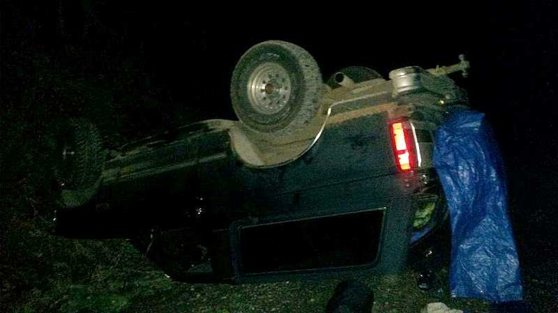 by: CLACKAMAS COUNTY SHERIFF'S OFFICE - None of the occupants were wearing seatbelts and two were ejected in the crash.