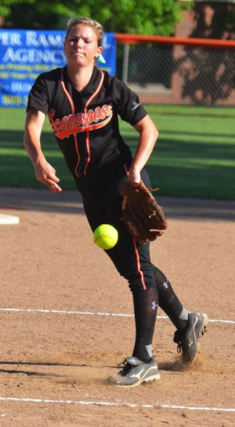 by: FILE PHOTO - Scappoose senior pitcher Lacey Updike will be a major piece in this year's team, which features a wide variety of athletes from different age and experience groups.