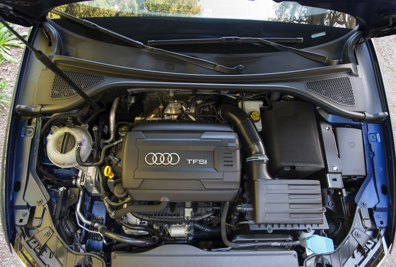 by: JOHN M. VINCENT - Two engines are available in the 2015 Audi A3, a 1.8-liter turbo (shown) and a 2.0-liter turbo.