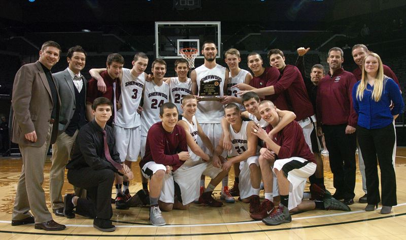 by: DAN BROOD - ALL TOGETHER -- The Sherwood High School boys basketball team had the best placing in school history with its fourth-place finish at the Class 5A state tournament, which ended Saturday at the Matthew Knight Arena in Eugene.