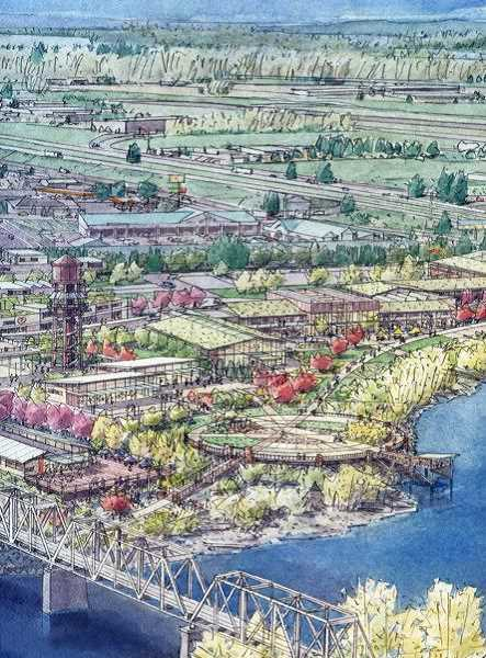 by: CONTRIBUTED PHOTO: EASTWIND DEVELOPMENT - Eastwind Development, owned by the Yoshida Group, has big plans for the former industrial site in Troutdale.