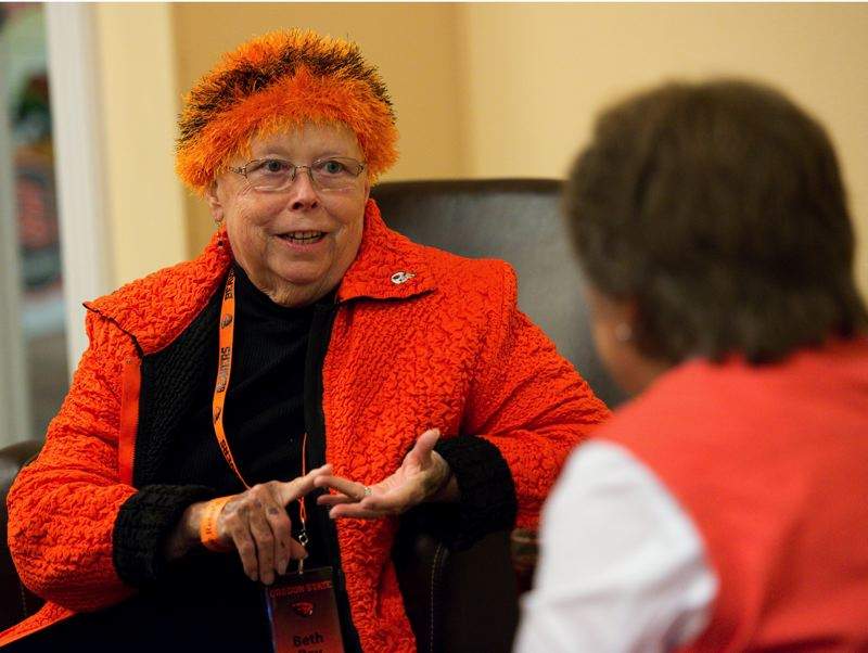 by: COURTESY OF OSU - Beth P. Ray, 67, wife of Oregon State University President Edward Ray, died Friday, March 21, after a battle with cancer. She was a steadfast supporter of OSU programs and its students.