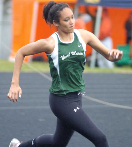 by: PAMPLIN MEDIA GROUP / FILE - Veronica Norris won the girls high jump to earn one of the North Marion track and field team's four event victories March 20 in McMinnville.