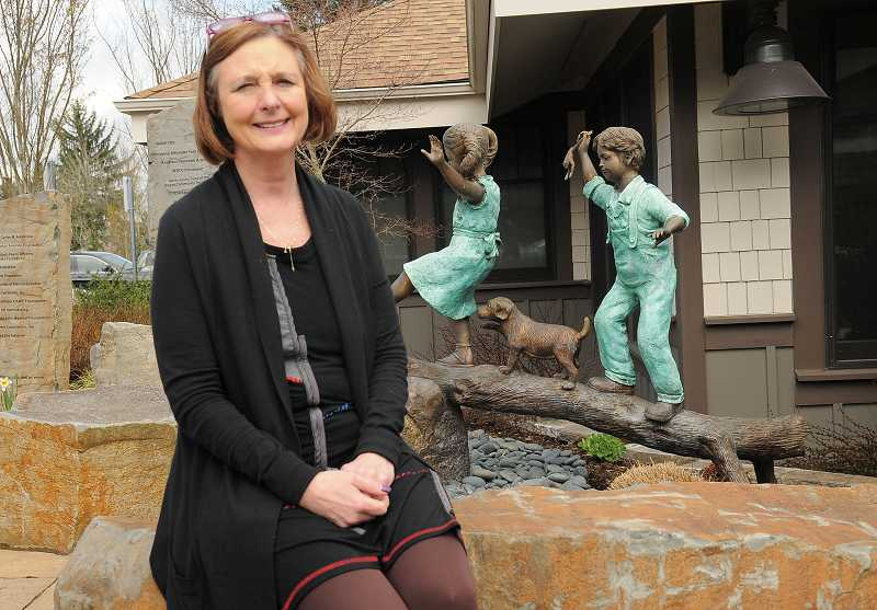 by: PAMPLIN MEDIA GROUP: VERN UYETAKE  - Executive Director Barbara Peschiera is spearheading the Children's Center awareness campaign during National Child Abuse Prevention Month in April.