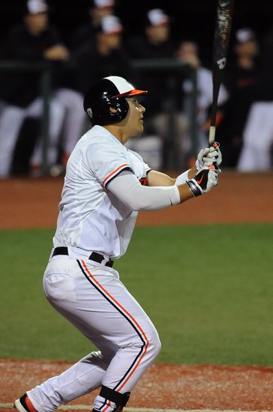 by: COURTESY OF DAVE NISHITANI - Michael Conforto's bat and overall play continue to be one of the strengths for Oregon States baseball team, but the little things the Beavers failed to execute cost them a home series last week against Arizona State.